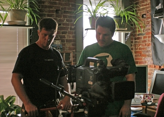 DAY ONE of Production: Bob Clark on dolly as director/DP Wyatt Weed frames up the first shot of the film.