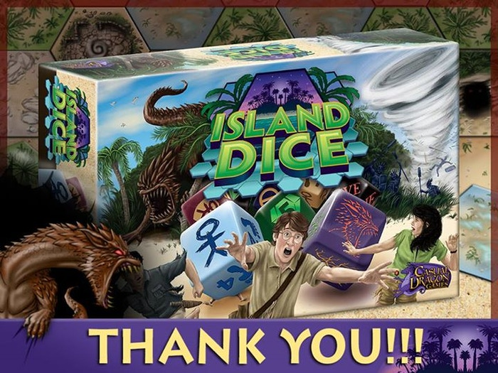 A strategy game in which 2 to 4 players fight to bring peace to the Island, using careful selection of specialty dice each turn.