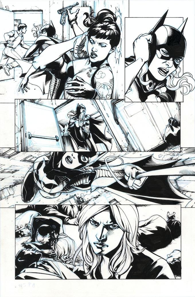 Birds of Prey #8, page 7 art by Jesus Saiz
