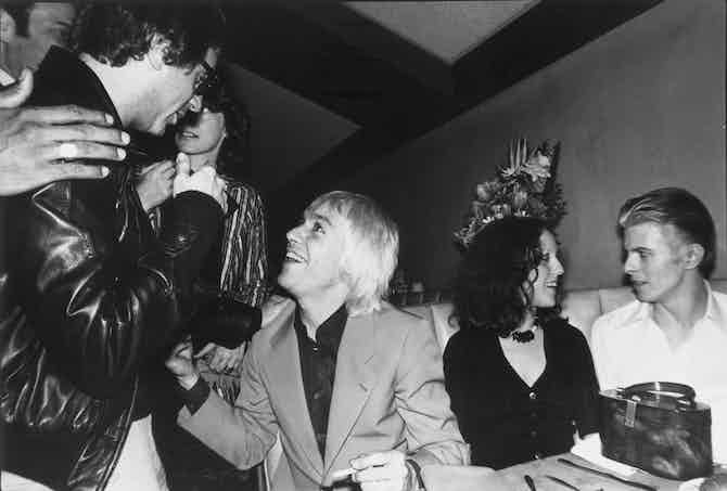 Danny Fields, Iggy Pop, Lisa Robinson, David Bowie