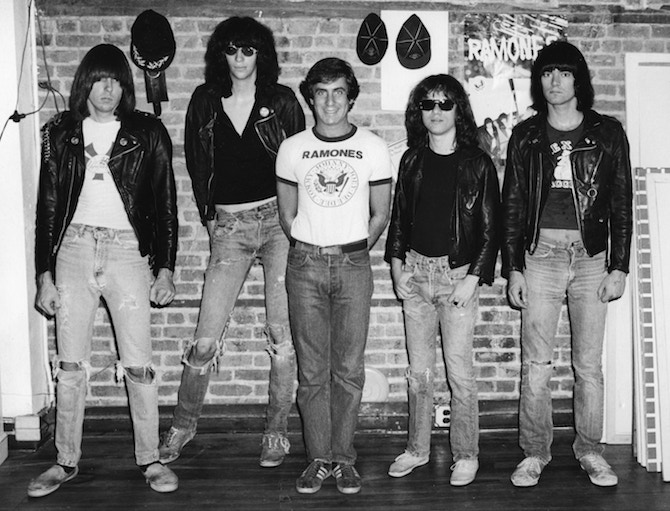 Danny Fields and The Ramones at Arturo Vega's loft
