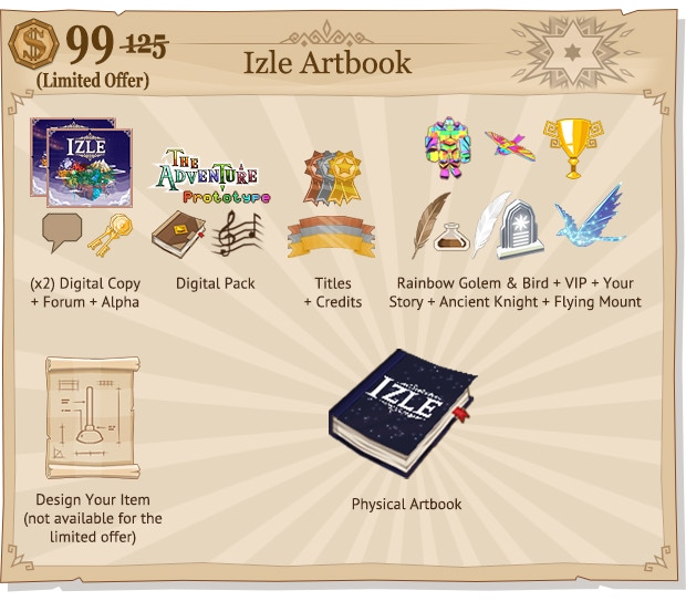 Note: The Artbook Limited Offer at $99 does not include the Artifact Forger reward