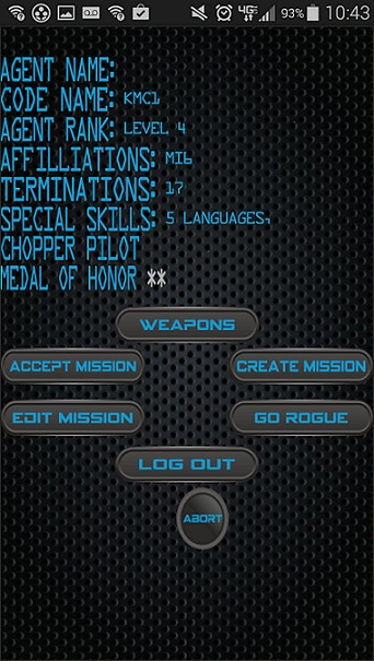 Screen shot of working iSPY prototype