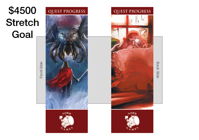 New Quest Progress Bookmark with new Artwork and Maroon Border Added to GM Pack (UNLOCKED)