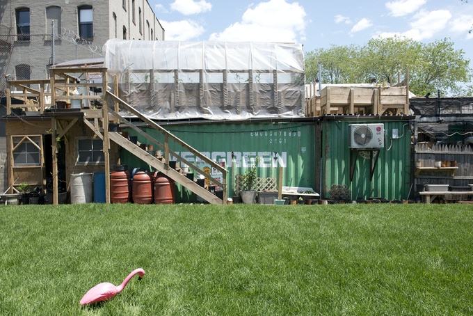 Heritage Radio Network is housed in two shipping containers in the backyard of Roberta's