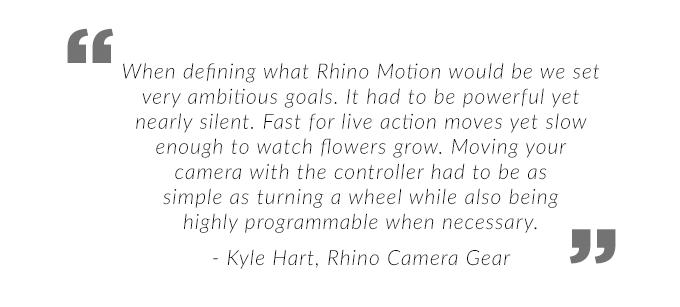 Rhino Slider EVO - Motorized Camera Slider by Kyle Hart