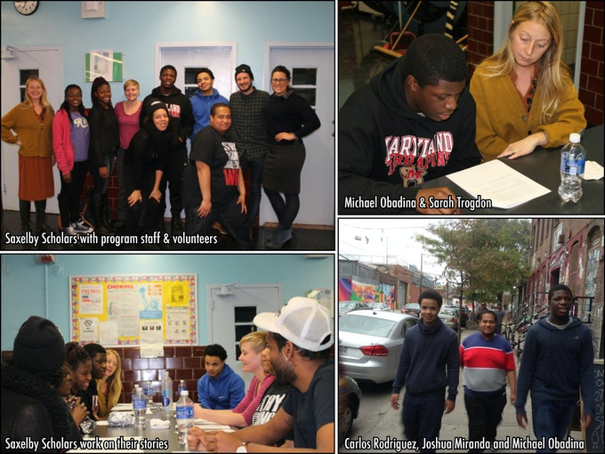 The Saxelby Radio Scholars program works with high school students from the Rockaways