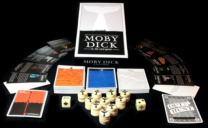 A card game based on Herman Melville's classic novel.  Draft Sailors, explore the Sea and survive the terror of the White Whale!