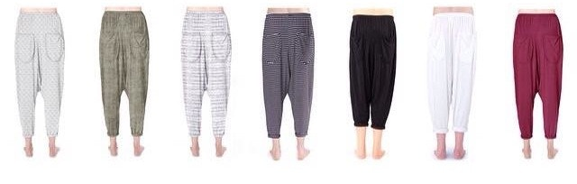 our slouchy pants in a variety of colors