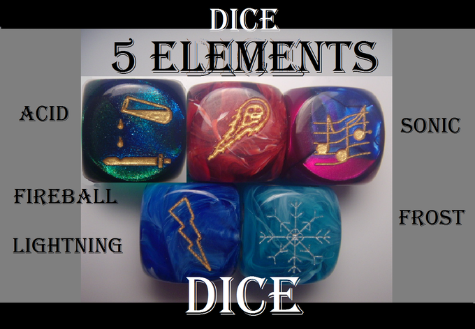 Buy Dice from previous Kickstarter projects and have them shipped to you right now! Limited Edition.