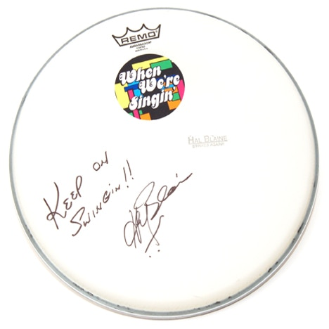 Remo Brand Drum Head signed by HAL BLAINE!