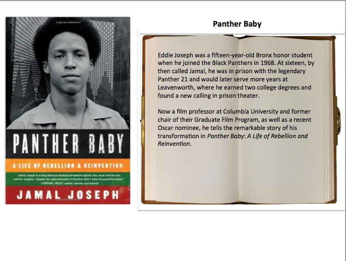 "Signed copy of ""Panther Baby"" by author, Jamal Joseph"