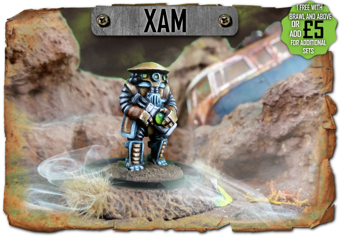 Xam the bounty hunter - one free with every pledge of Brawl and above!