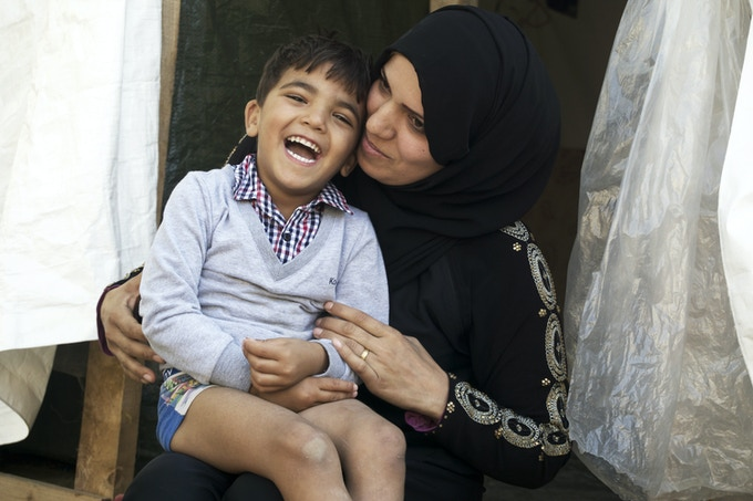 Yousef, and his mom.
