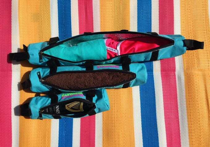 Tubes can store just about anything! Beverages, clothing, phone, sunglasses. And they are waterproof so your belongings stay dry.