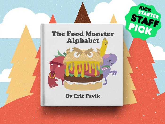 An illustrated book about food... and monsters... and the alphabet... and something called a sasquash