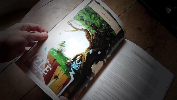 Artbook prototype, testing different styles