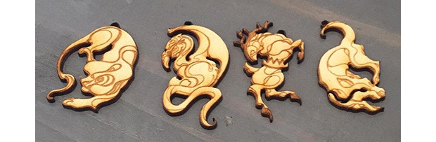 """""""House Pendant Set"""" by Tiffany Le, yours for a pledge of $100 and up!"""