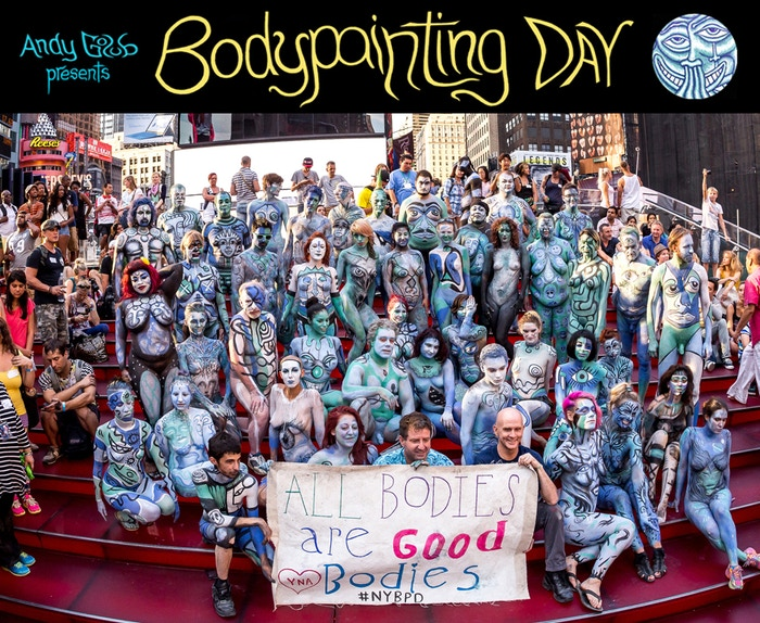 Live nude body painting events in the public streets of NYC & Amsterdam! Promoting Freedom of Expression & Body Acceptance. With Young Naturists America http://yna.me