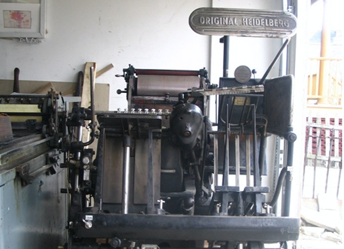 "1954 Heidelberg 10 x 15 ""Windmill"" Linotype Press one of our Ink Stained Wretch's shop beauties!"