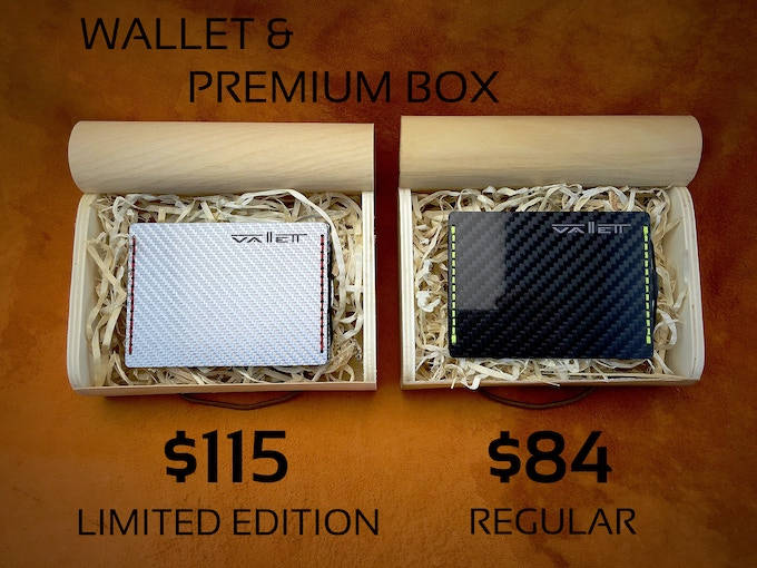 Wallet of your choice (Limited or Regular in Small or Smaller Size) with a Beautiful Premium Wooden Box!