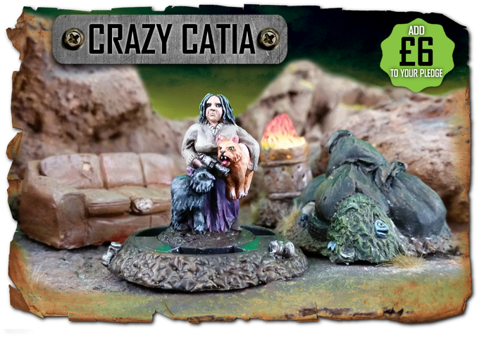 Crazy Catia, kritter queen of the wastes - available as an add on!