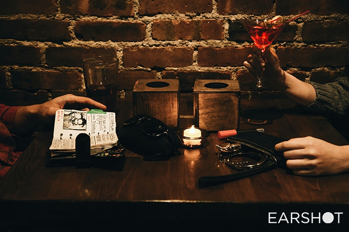 Explore a bar full of hidden dramas, featuring 12 original audio plays with 28 characters that interact in unexpected ways.