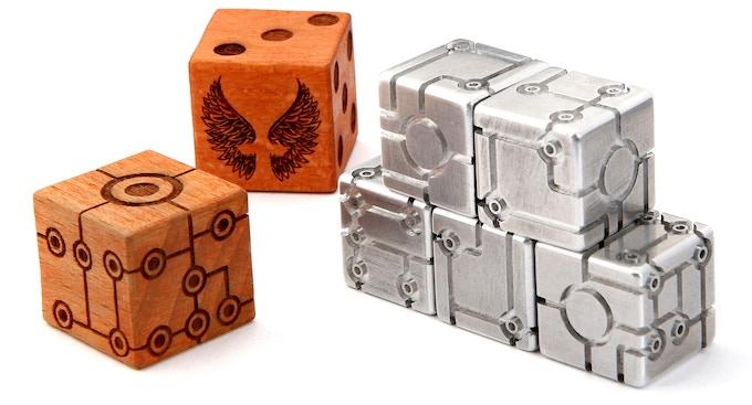TRON-DICE Metal & Wood