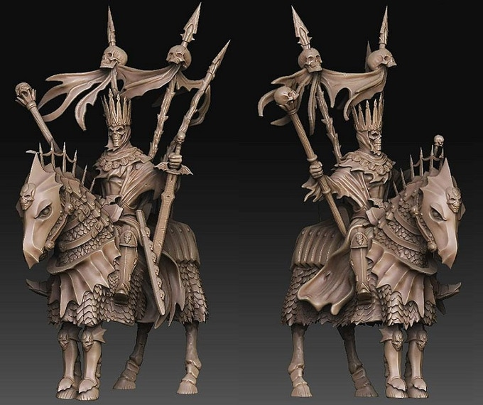3-D render of the wraith king