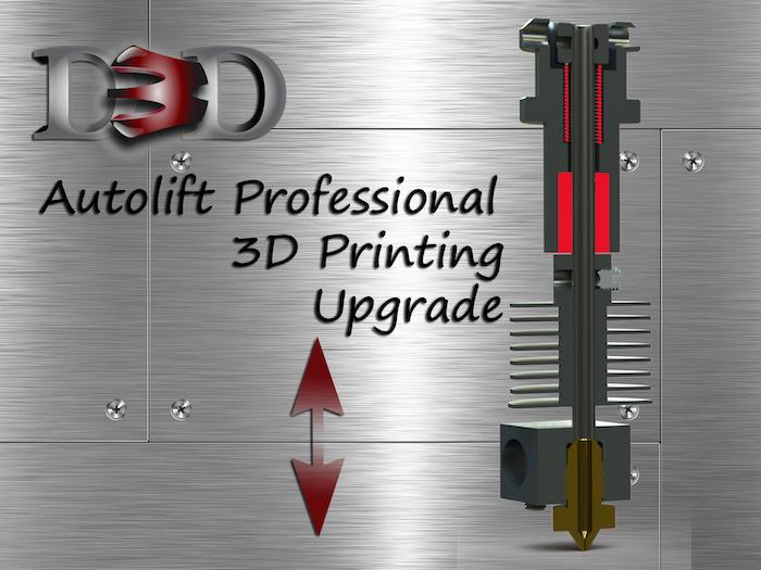 Professional Autolift retracting hot ends provide maximum print quality & performance.