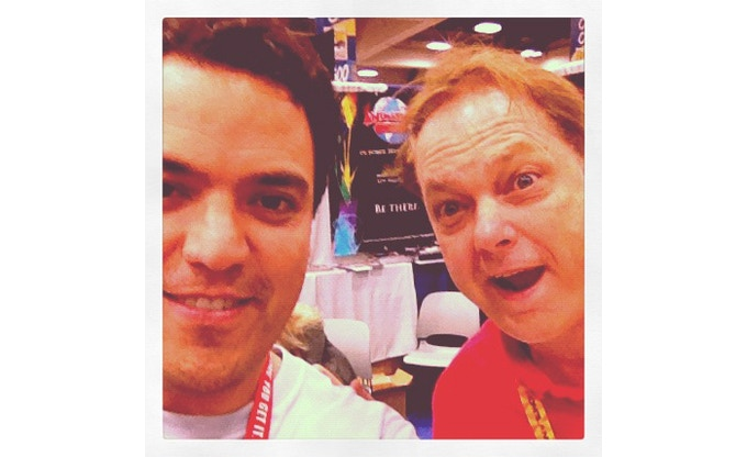 Jim Lujan and Bill Plympton at San Diego Comic-Con
