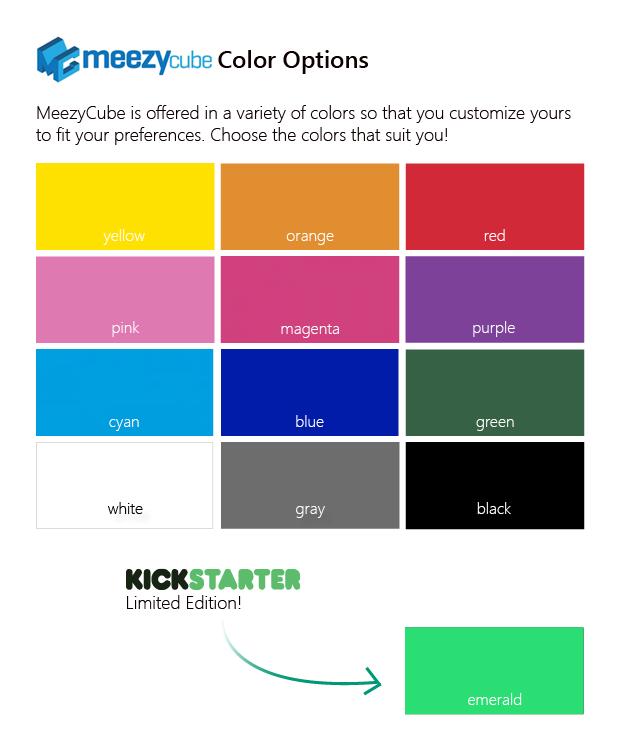 MeezyCube Color Choices