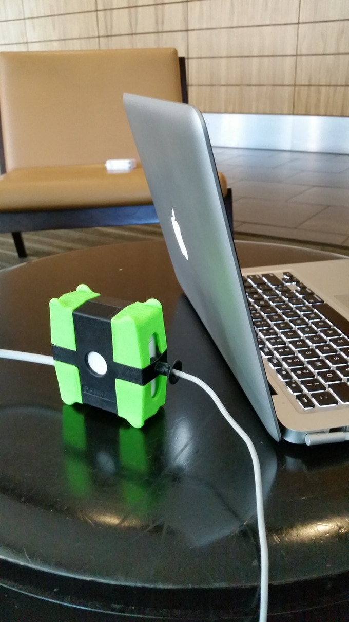 Allowing your MagSafe Adapter to stand allows for better air flow, preventing overheat.