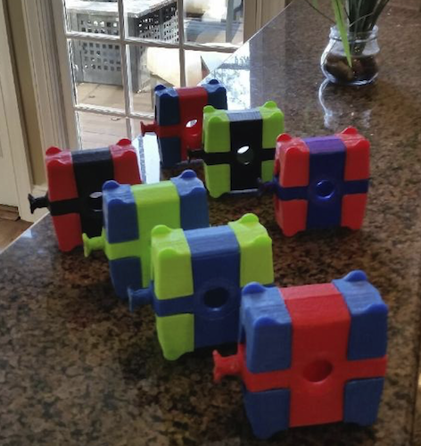 First 3-D Prints of the MeezyCube