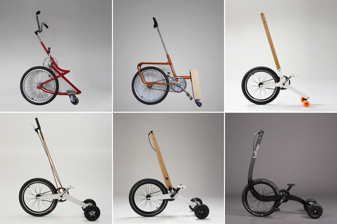 Halfbike evolution milestones.