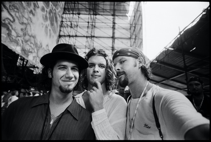 Danny Clinch with Blind Melon members Christopher Thorn and Shannon Hoon. Woodstock, 1994. Copyright Danny Clinch.
