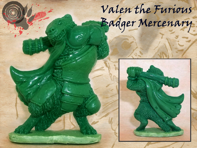 Badger approx. 46mm to top of head