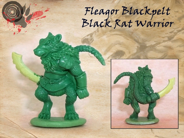 Black rat approx. 29mm to top of head