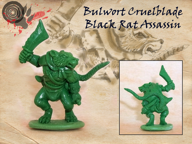 Black rat approx. 26mm to top of head