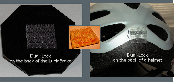 Dual lock is strong enough to hold siding to buildings in Minnesota weather - it will hold your LucidBrake where you choose to mount it!