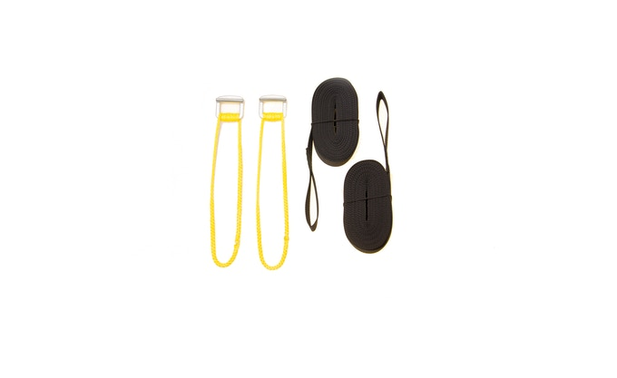 """Optional Tree Straps and Cinch Buckles and UPGRADED 1/8"""" Amsteel Rope Loops"""