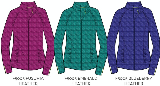 Women's Mid Layer Available Colors