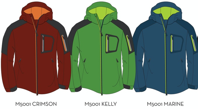 Men's Soft Shell Stretch Goal Colors