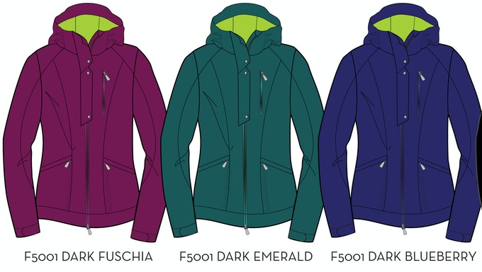 Women's Soft Shell Stretch Goal Colors