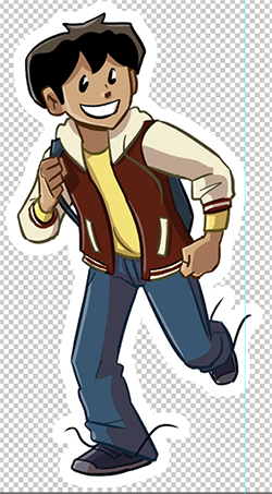 Walky character magnet mock-up