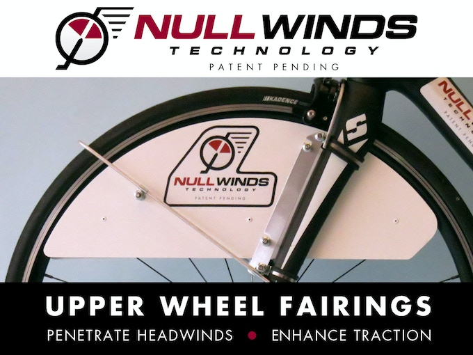 Upper Wheel Fairings: Road testing demonstrates dramatic speed gains achieved facing headwinds through reducing critical upper wheel spoke drag.