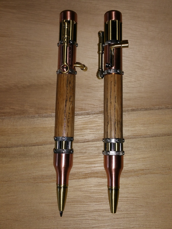 Steampunk Bolt Action Pens in Antique Copper/Brass combination