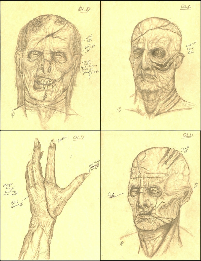 Concept art for the film's creatures.