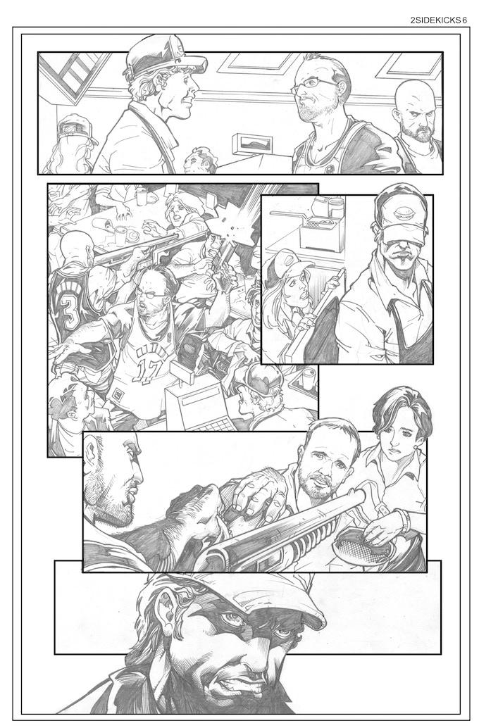Sidekicks #2, Page 6 - Pencils by Bong Dazo