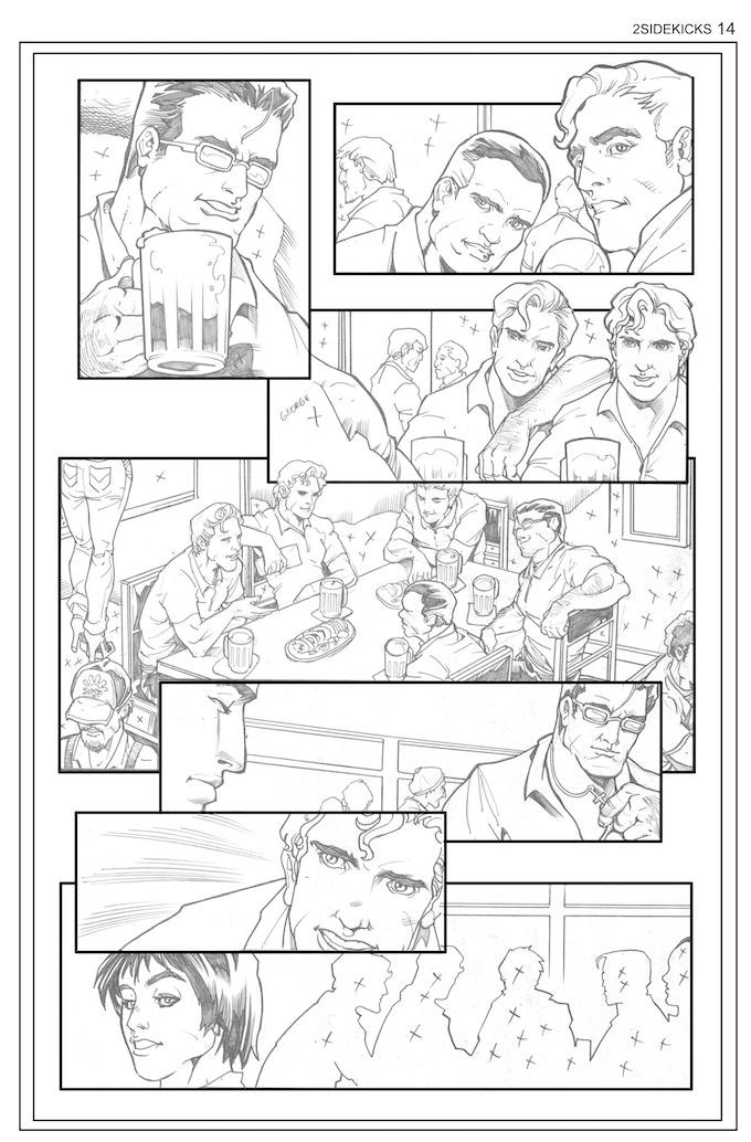 Sidekicks #2, Page 14 - Pencils by Bong Dazo